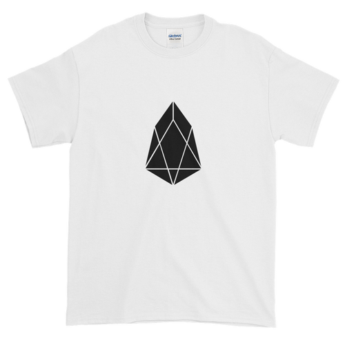 White Short Sleeve T-Shirt With Black EOS Logo