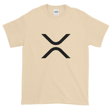 Load image into Gallery viewer, Sand Short Sleeve XRP T Shirt With Black XRP Logo