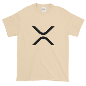 Sand Short Sleeve XRP T Shirt With Black XRP Logo