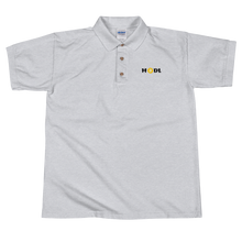 Load image into Gallery viewer, Grey Short Sleeve Polo Shirt With Krypto Threadz Bitcoin HODL Logo
