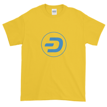 Load image into Gallery viewer, Yellow Short Sleeve T-Shirt With Blue Dash Logo