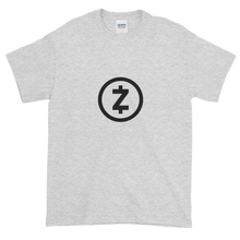 Load image into Gallery viewer, Ash Short Sleeve T Shirt With Black Z-Cash Logo