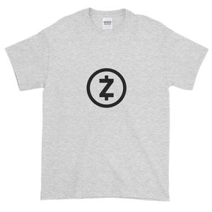 Ash Short Sleeve T Shirt With Black Z-Cash Logo