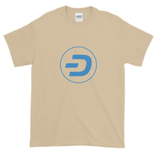 Load image into Gallery viewer, Sand Short Sleeve T-Shirt With Blue Dash Logo
