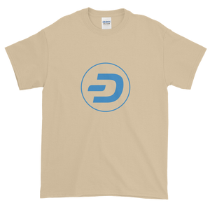 Sand Short Sleeve T-Shirt With Blue Dash Logo