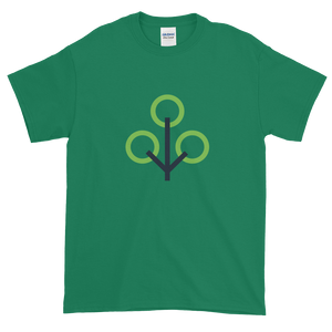 Green Short Sleeve T-Shirt With Green and Grey Zcash Sapling Logo