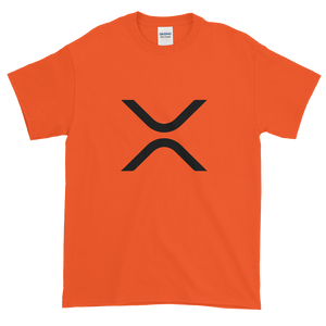 Orange Short Sleeve XRP T Shirt With Black XRP Logo