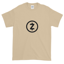 Load image into Gallery viewer, Sand Short Sleeve T Shirt With Black Z-Cash Logo