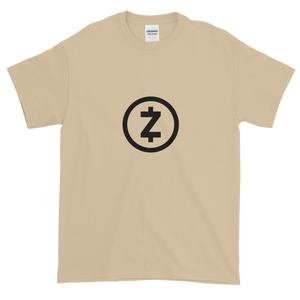Sand Short Sleeve T Shirt With Black Z-Cash Logo