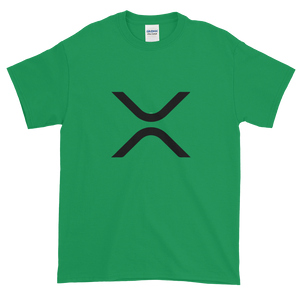 Green Short Sleeve XRP T Shirt With Black XRP Logo