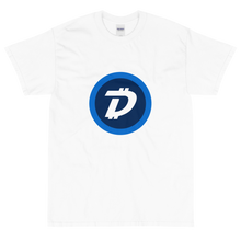 Load image into Gallery viewer, White Short Sleeve T-Shirt With White and Blue DigiByte Logo