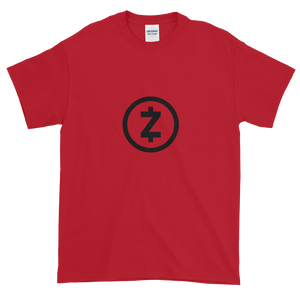 Red Short Sleeve T Shirt With Black Z-Cash Logo