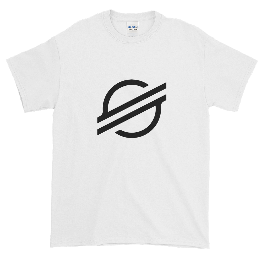 White Short Sleeve Stellar TShirt With Black Stellar S Logo