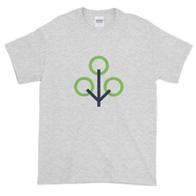 Load image into Gallery viewer, Ash Short Sleeve T-Shirt With Green and Grey Zcash Sapling Logo