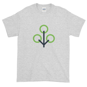 Ash Short Sleeve T-Shirt With Green and Grey Zcash Sapling Logo