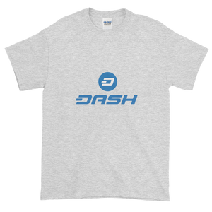 Ash Short Sleeve T-Shirt With Blue and White Dash Logo