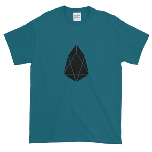 Galapagos Blue Short Sleeve T-Shirt With Black EOS Logo