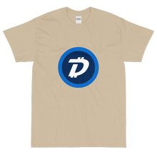 Load image into Gallery viewer, Sand Short Sleeve T-Shirt With White and Blue DigiByte Logo