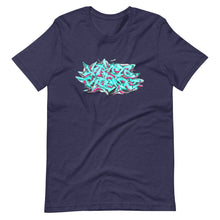 Load image into Gallery viewer, Navy Blue Short Sleeve T-Shirt With Krypto Threadz Graffiti Design