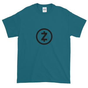 Blue Short Sleeve T Shirt With Black Z-Cash Logo