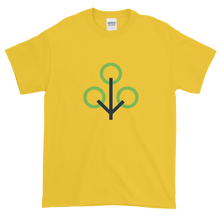 Load image into Gallery viewer, Yellow Short Sleeve T-Shirt With Green and Grey Zcash Sapling Logo