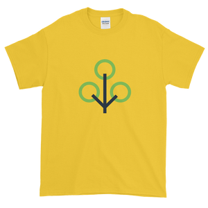 Yellow Short Sleeve T-Shirt With Green and Grey Zcash Sapling Logo