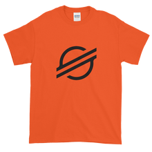 Load image into Gallery viewer, Orange Short Sleeve Stellar T Shirt With Black Stellar S Logo