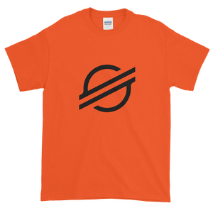 Orange Short Sleeve Stellar T Shirt With Black Stellar S Logo