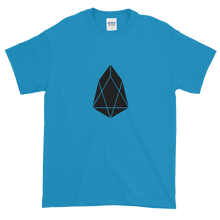 Load image into Gallery viewer, Sapphire Blue Short Sleeve T-Shirt With Black EOS Logo