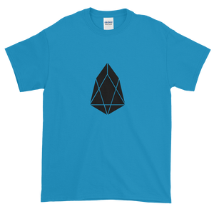 Sapphire Blue Short Sleeve T-Shirt With Black EOS Logo