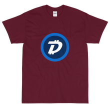 Load image into Gallery viewer, Maroon Short Sleeve T-Shirt With White and Blue DigiByte Logo