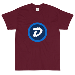 Maroon Short Sleeve T-Shirt With White and Blue DigiByte Logo