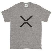 Load image into Gallery viewer, Grey Short Sleeve XRP T Shirt With Black XRP Logo