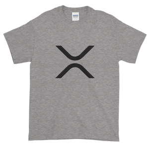 Grey Short Sleeve XRP T Shirt With Black XRP Logo
