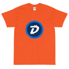 Load image into Gallery viewer, Orange Short Sleeve T-Shirt With White and Blue DigiByte Logo