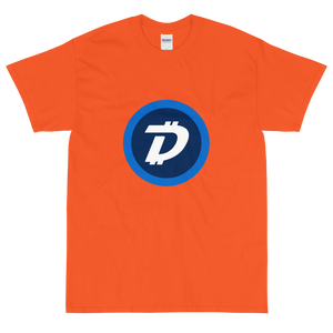 Orange Short Sleeve T-Shirt With White and Blue DigiByte Logo