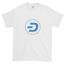 Load image into Gallery viewer, White Short Sleeve T-Shirt With Blue Dash Logo