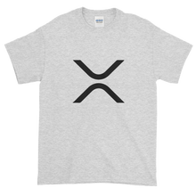 Load image into Gallery viewer, Ash Short Sleeve XRP T Shirt With Black XRP Logo