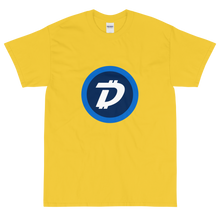 Load image into Gallery viewer, Yellow Short Sleeve T-Shirt With White and Blue DigiByte Logo