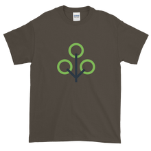 Load image into Gallery viewer, Olive Short Sleeve T-Shirt With Green and Grey Zcash Sapling Logo