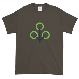 Olive Short Sleeve T-Shirt With Green and Grey Zcash Sapling Logo