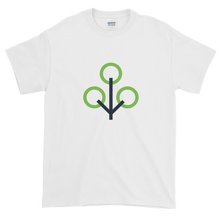 Load image into Gallery viewer, White Short Sleeve T-Shirt With Green and Grey Zcash Sapling Logo