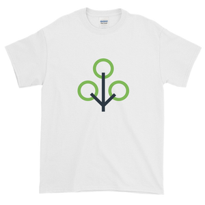 White Short Sleeve T-Shirt With Green and Grey Zcash Sapling Logo