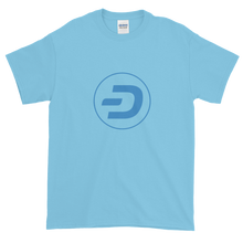 Load image into Gallery viewer, Baby Blue Short Sleeve T-Shirt With Blue Dash Logo