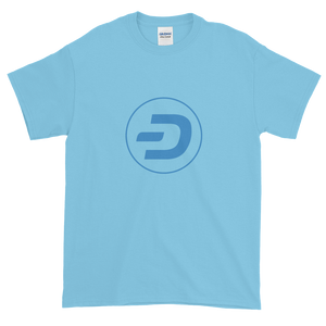 Baby Blue Short Sleeve T-Shirt With Blue Dash Logo