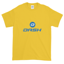 Load image into Gallery viewer, Yellow Short Sleeve T-Shirt With Blue and White Dash Logo