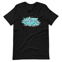 Load image into Gallery viewer, Black Short Sleeve T-Shirt With Krypto Threadz Graffiti Design