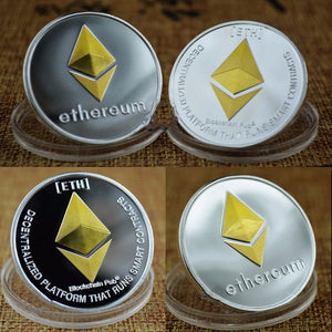 Ethereum Collectible Coins Silver and Gold