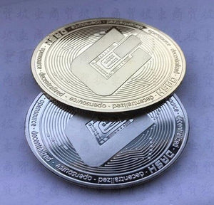 Silver and Gold Dash Coin