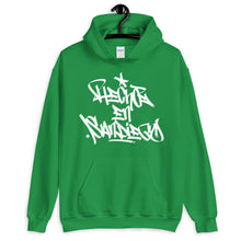"Load image into Gallery viewer, Green Krypto Threadz Hoodie with ""Hecho En San Diego"" tag in White"